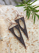 Load image into Gallery viewer, Antiqued Copper Plated Earrings