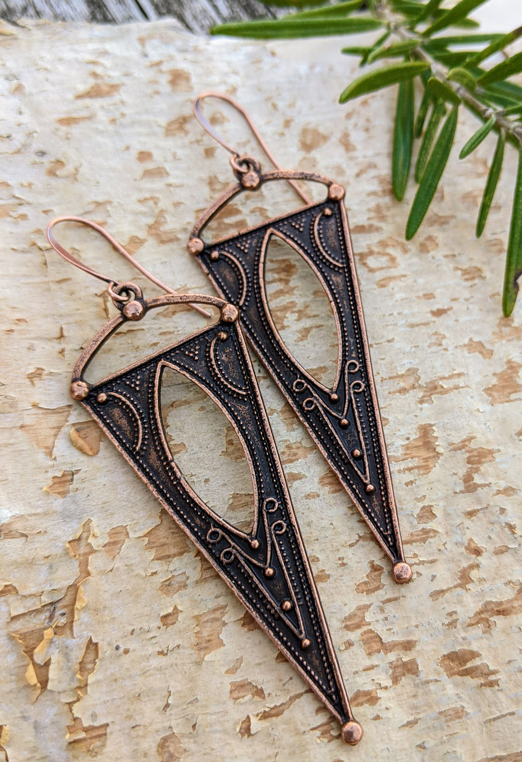Antiqued Copper Plated Earrings