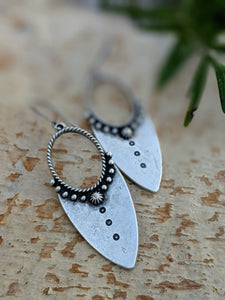 Antiqued Silver Plated Earrings II