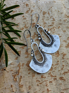 Antiqued Silver Plated Earrings I