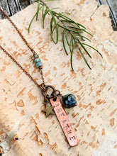 Load image into Gallery viewer, BREATHE - Stamped Copper Reminder Necklace