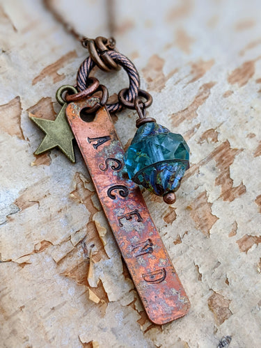 ASCEND - Stamped Copper Reminder Necklace