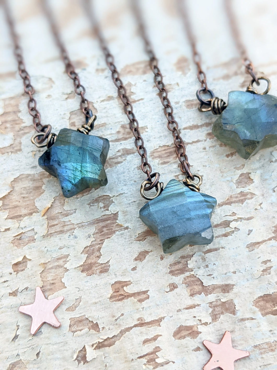 Labradorite Star Necklace