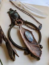 Load image into Gallery viewer, Copper Electroformed Feather Necklace #1