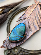 Load image into Gallery viewer, Copper Electroformed Feather Necklace #3