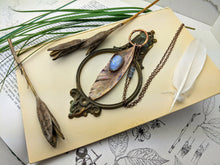 Load image into Gallery viewer, Copper Electroformed Feather Necklace #10