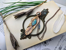 Load image into Gallery viewer, Copper Electroformed Feather Necklace #11