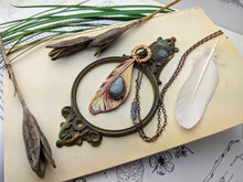 Load image into Gallery viewer, Copper Electroformed Feather Necklace #14