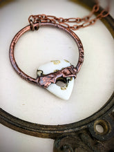 Load image into Gallery viewer, Electroformed Bone Ouija Planchette Necklace 1