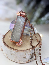 Load image into Gallery viewer, Copper Electroformed Aura Druzy Necklace 1