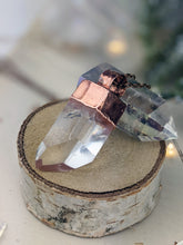 Load image into Gallery viewer, Copper Electroformed Clear Quartz Icicle Point Necklace 1