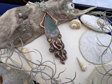 Load image into Gallery viewer, Copper Electroformed Squid Necklace #1