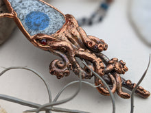 Load image into Gallery viewer, Copper Electroformed Squid Necklace #3