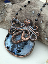 Load image into Gallery viewer, Copper Electroformed Octopus Necklace #1