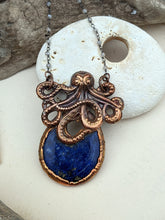 Load image into Gallery viewer, Copper Electroformed Octopus Necklace #2