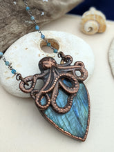Load image into Gallery viewer, Copper Electroformed Octopus Necklace #5