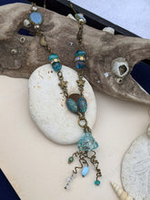 Load image into Gallery viewer, Aqua Glass Jellyfish Necklace #1