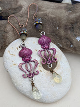 Load image into Gallery viewer, Fuchsia Octopus Earrings 1