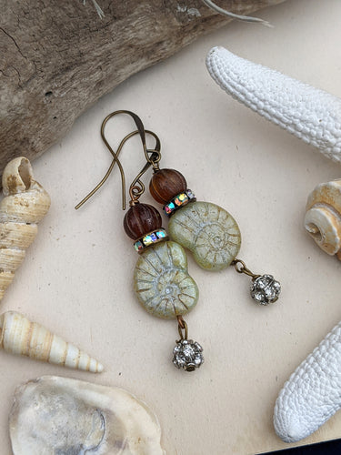 Green Nautilus Earrings 4