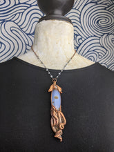 Load image into Gallery viewer, Copper Electroformed Squid Necklace #7