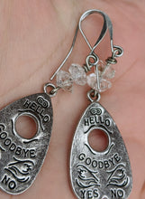 Load image into Gallery viewer, Ouija Earrings with Herkimer Diamonds II - Minxes' Trinkets