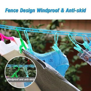 Foldable Windproof Clothes Hanging String (3pcs Set - 15Meters)