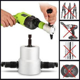 Double Head Metal Sheet Nibbler Cutter (Drill Not Included)