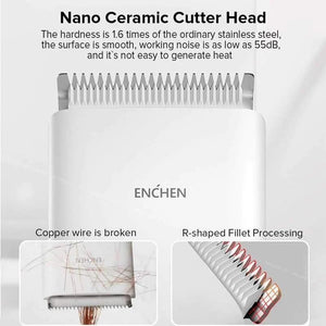 Authentic Enchen Adjustable Hair Clipper (with Shawl & Scissors)