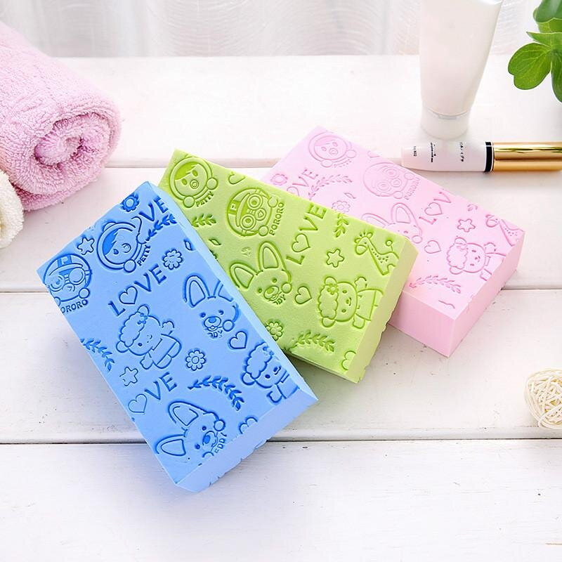 Exfoliating Shower Sponge (4pcs. Set)