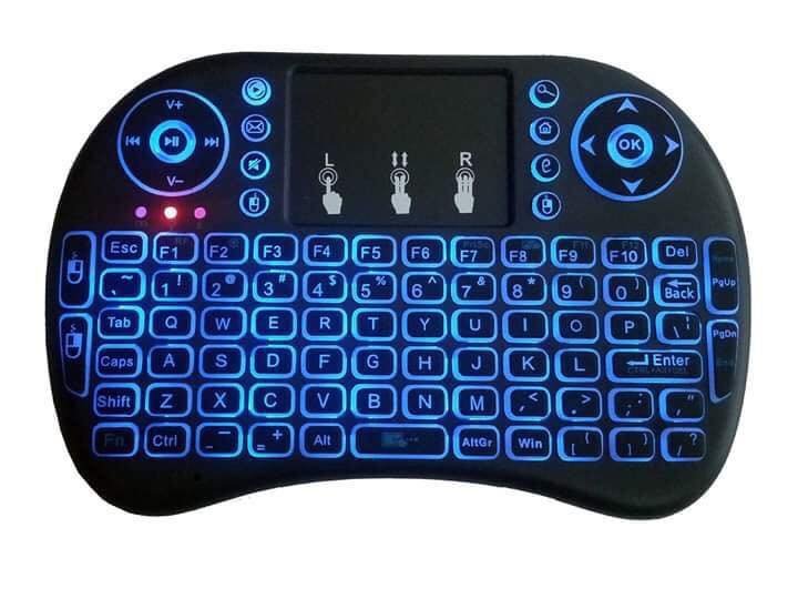 Wireless Mini QWERTY Keyboard & Touchpad Combo