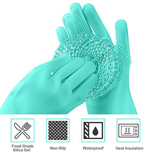 Magic Silicone Brush Gloves (Pair)
