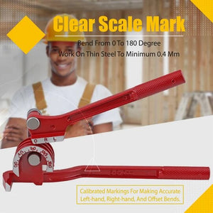 3 in 1 Manual Pipe Bending Tool (From 0 to 180 degree)