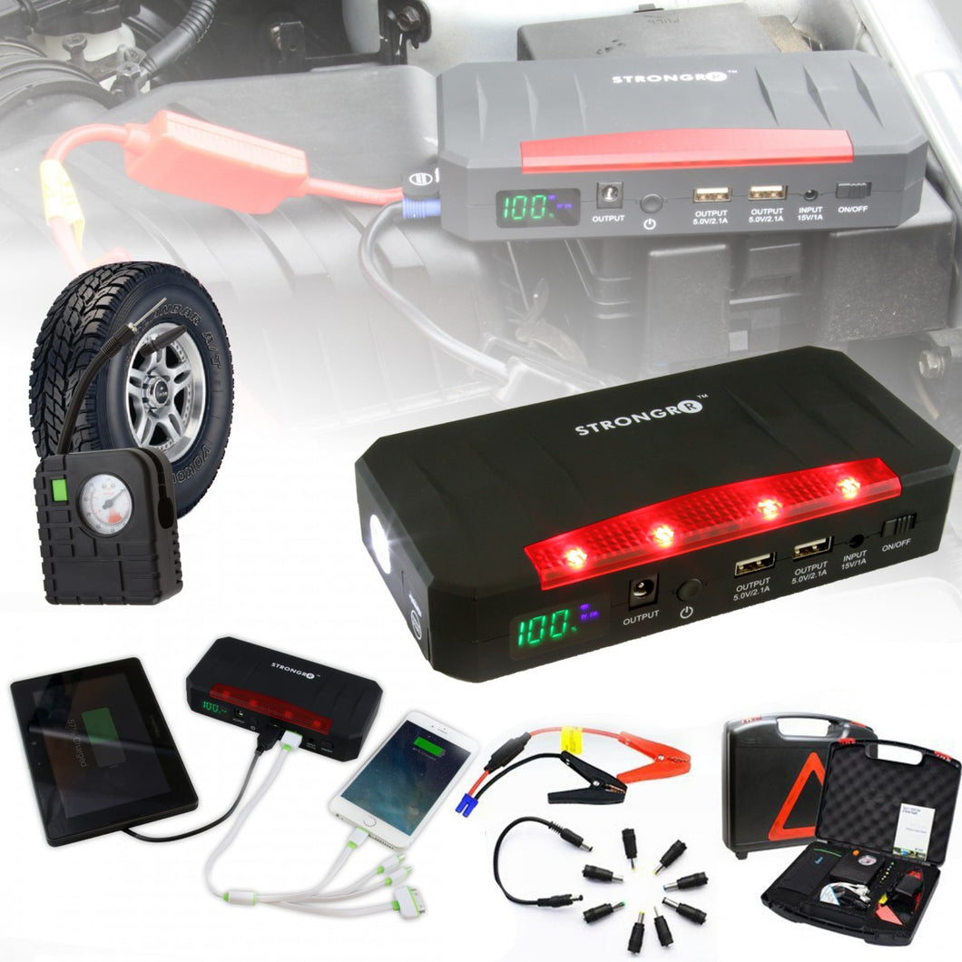5 in 1 Emergency Jump Starter Kit w/ Air Compressor