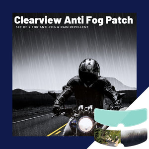 Clearview 2 in 1 Anti - Fog & Rain Patch Film (2pcs. Set)