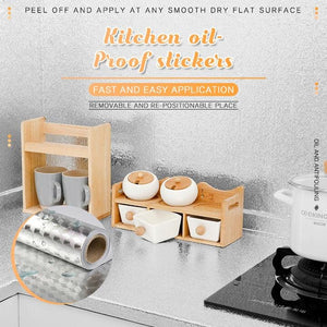Kitchen Water & Oil-Proof Stickers (L 39.37inch x W 15.75inch)
