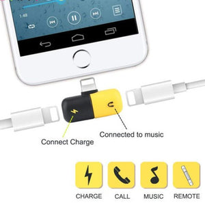 2 in 1 Apple iOS Lightning Decoder (Earphones & Charger)