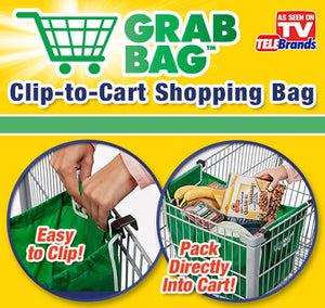 Clip-to-Cart Smart Shopping Bag 2pcs./Set