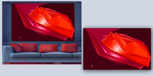 """Big Red"" - Abstract Collection by CutZy McCall"