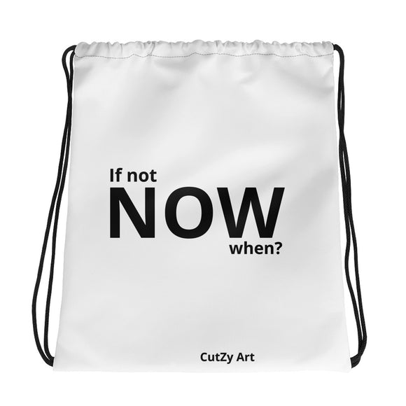 If not Now, when? Vogue Runway 2019-20 CutZy Art Drawstring bag,