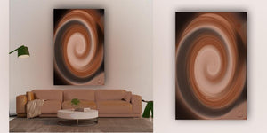 """Smooth Cocoa Swirl"" WHORLS Collection by CutZy McCall"