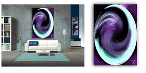 """Purple Sweep"" Whorls Collection by CutZy McCall"