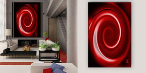 """Red Hot Swirl"" Whorls Collection by CutZy McCall"