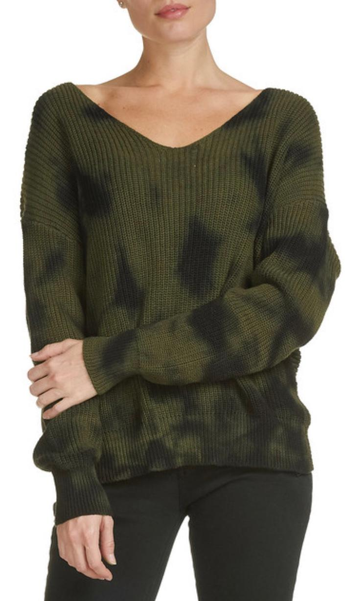 Elan army twist sweater (front view)
