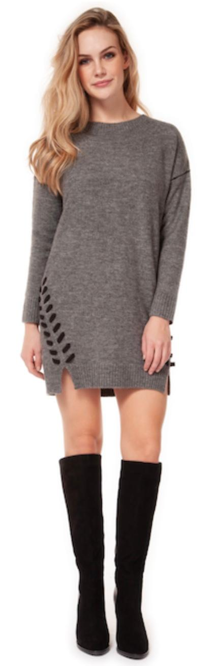 Dex tunic w/side lace up detail