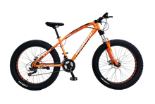 Load image into Gallery viewer, G-Hybrid Fat Tyre Bike Mammoth FT03 26x4.0 inch with 21 Speed Orange