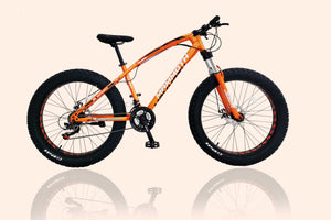 G-Hybrid Fat Tyre Bike Mammoth FT03 26x4.0 inch with 21 Speed Orange