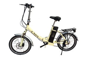 Freedom Folding e-bike with Lower Step Through and Throttle Cream
