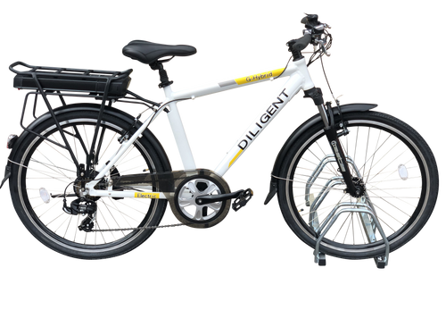 G-Hybrid Diligent Electric Bicycle Smart White