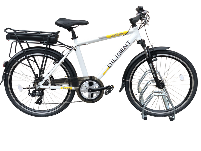 Commuter EBike G-Hybrid Diligent 36v Battery White
