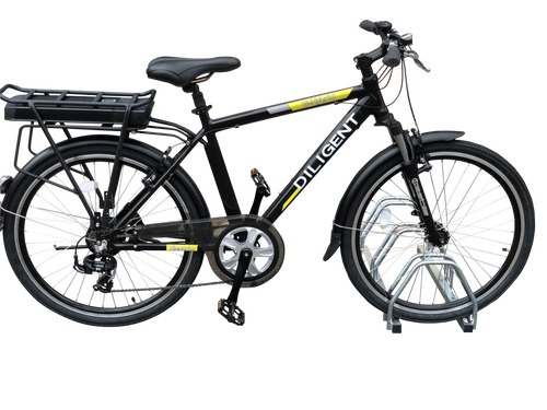 G-Hybrid Diligent Electric Bicycle Smart Black with 36v10ah